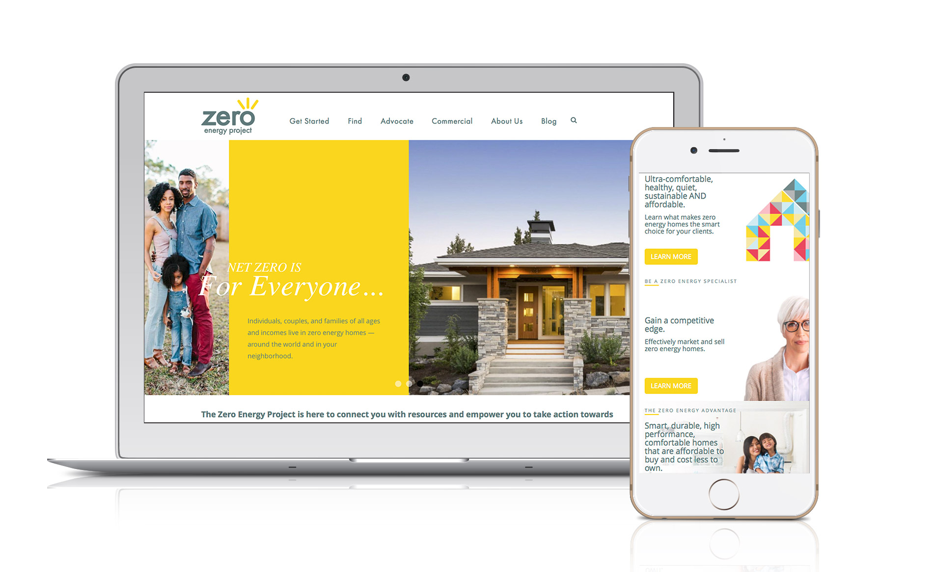 Zero Energy Project Astir Agency Bend Oregon Web Design Logo