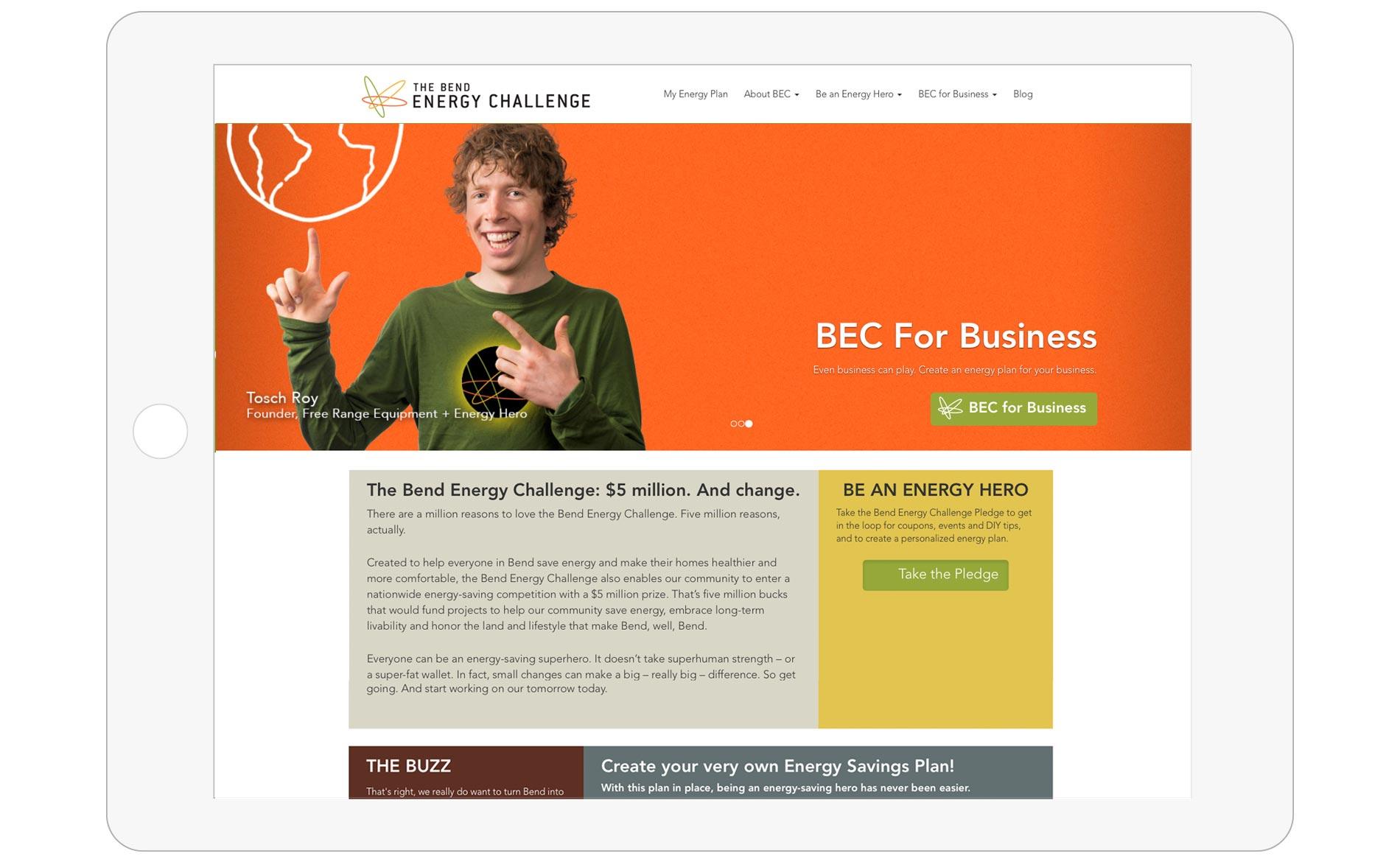 Bend Energy Challenge Web Design - Home
