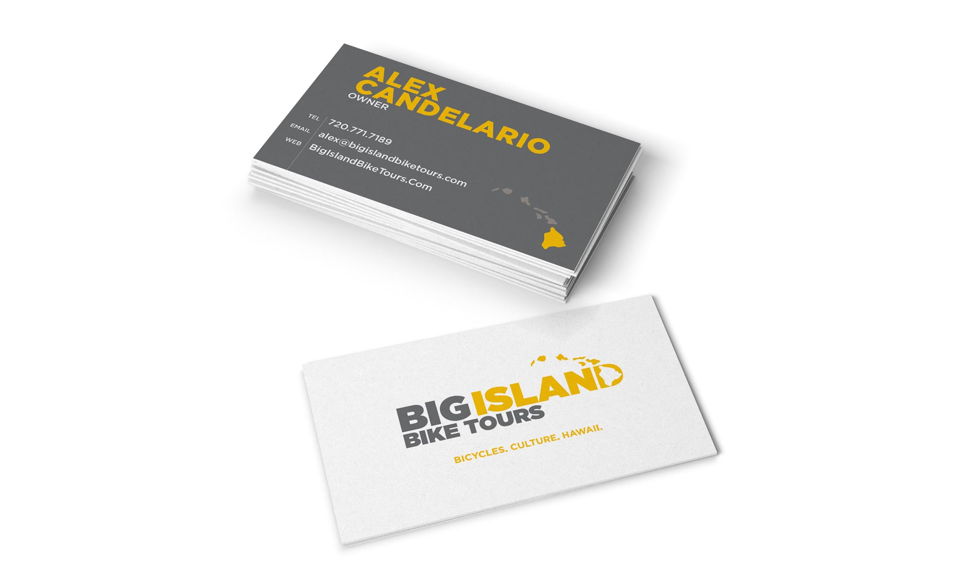 Big Island Bike Tours - Business Card Design