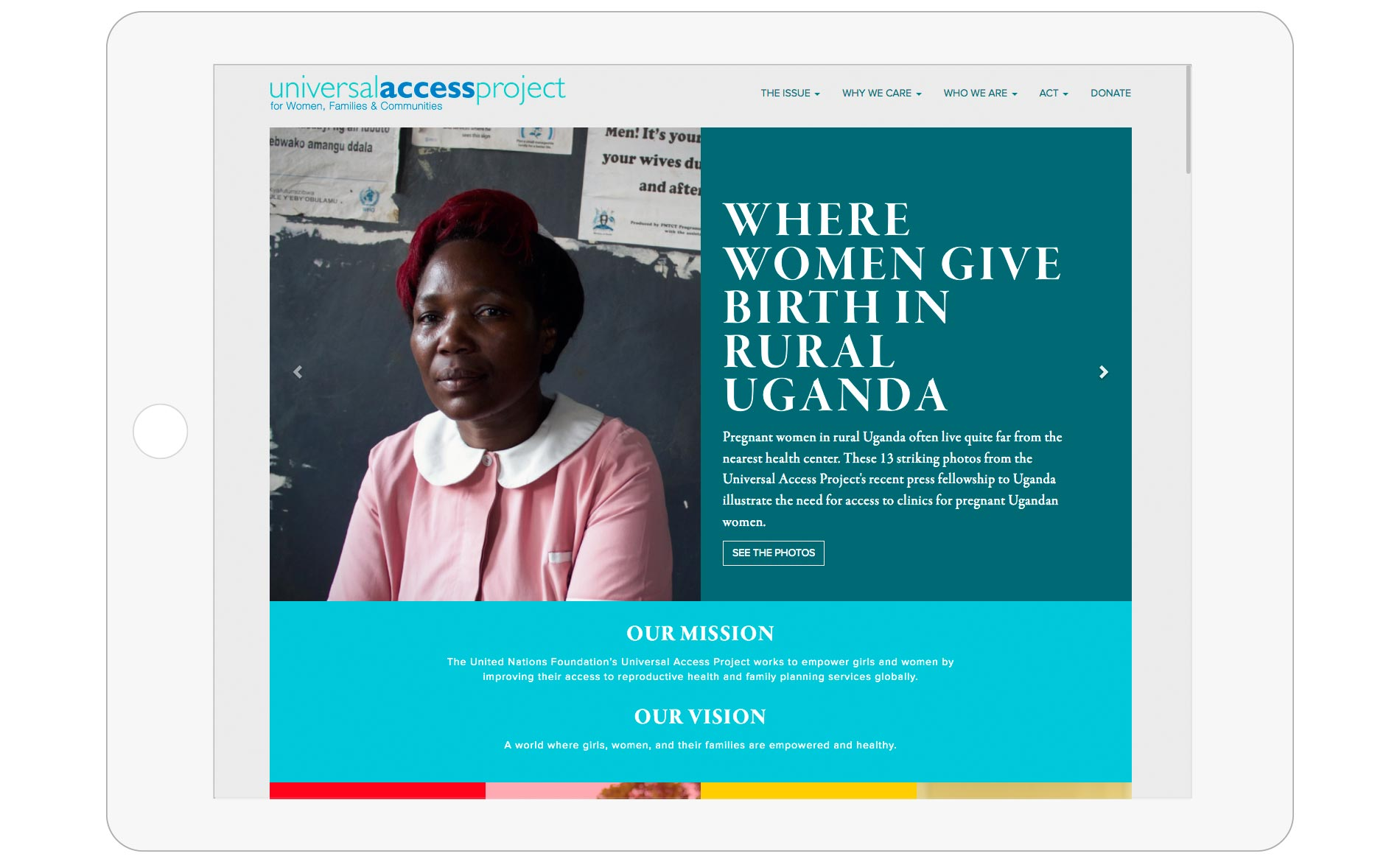 Universal Access Project - Website Design - Homepage 2