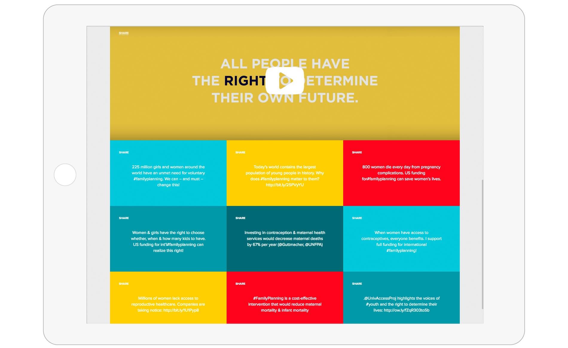 Universal Access Project - Website Design - Tablet