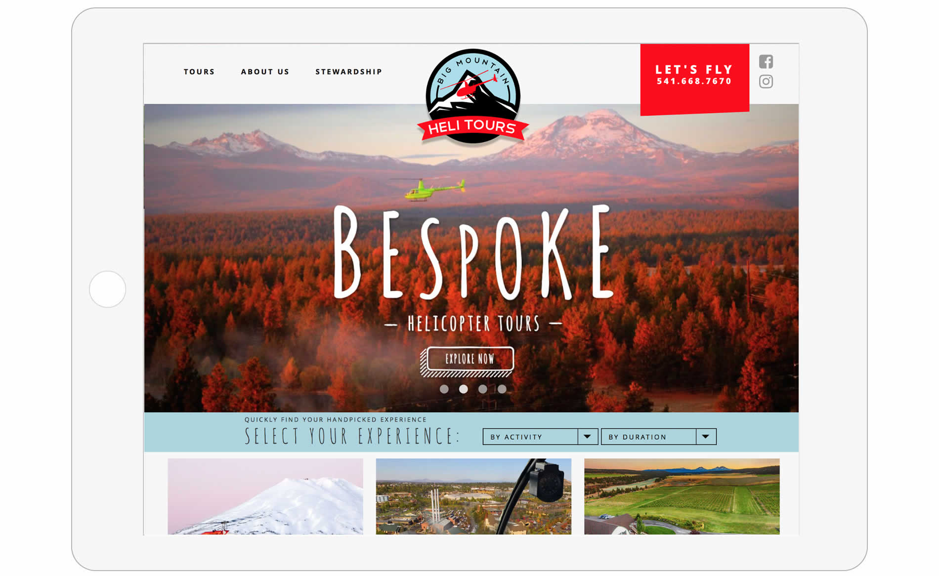 Big Mountain Heli Tours Website Design