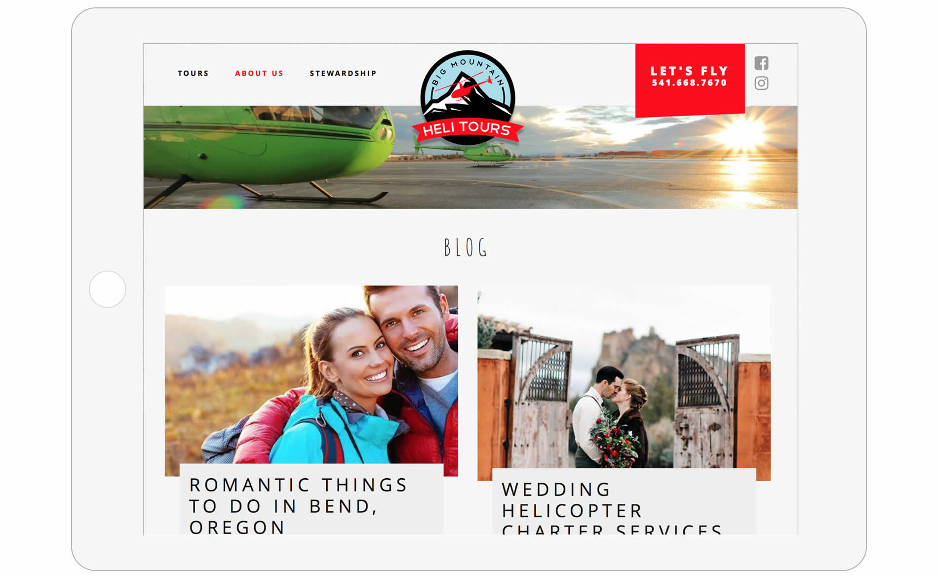 Big Mountain Heli Tours Website Design - Blog